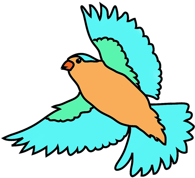 Birds flying clip art.
