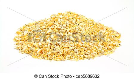 Stock Photo of Cracked corn bird food.