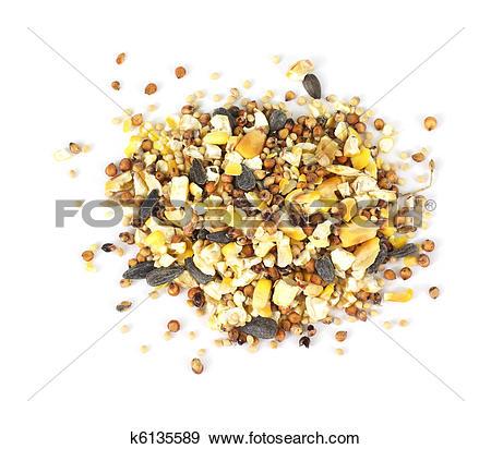Stock Photograph of Wild bird food seeds k6135589.