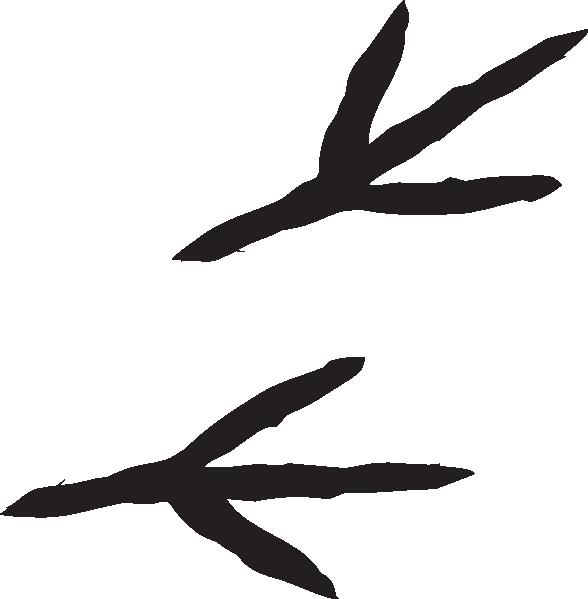 Bird footprint clipart.