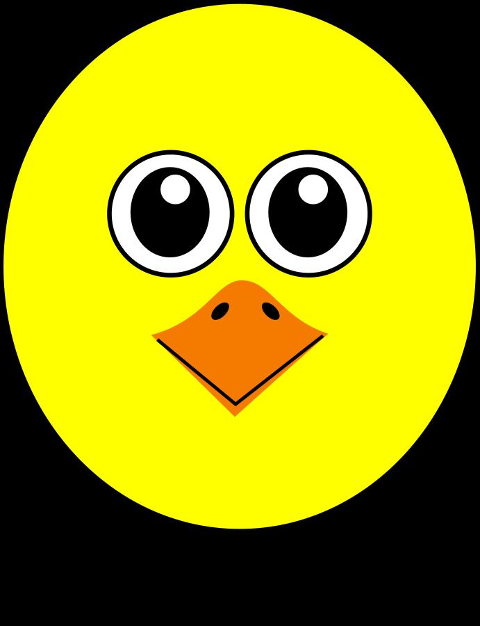 Bird Face Clip Art.