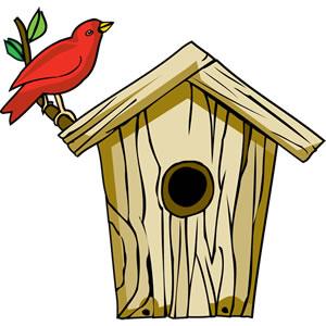 Cute Birdhouse Clipart.