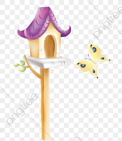 Vector Painted Bird House, Birds, House, Watercolor House PNG and.
