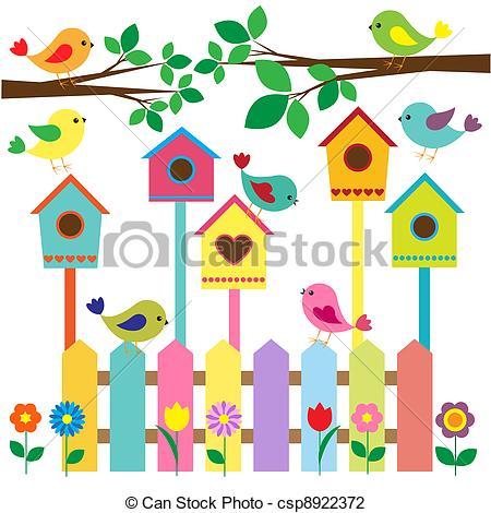 Birdhouse Clipart Vector and Illustration. 1,086 Birdhouse clip.