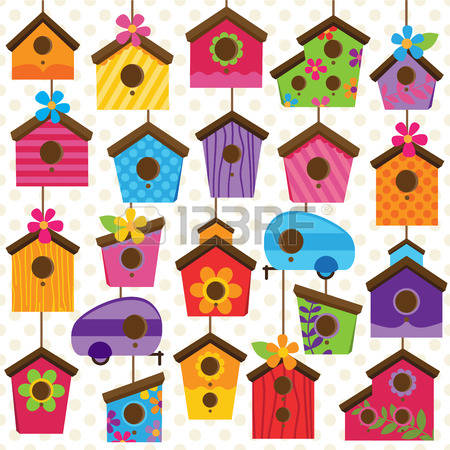2,467 Birdhouse Cliparts, Stock Vector And Royalty Free Birdhouse.