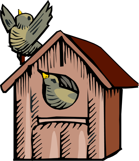 Cute Birdhouse Clipart.