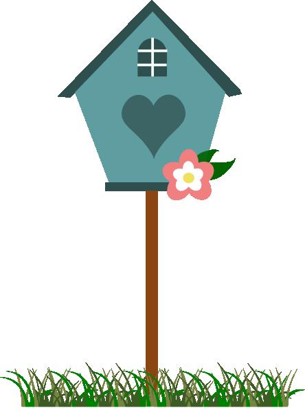 Cartoon Birdhouse Clipart.