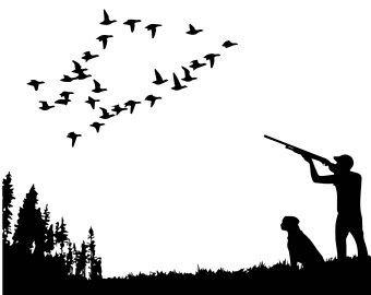 Bird Hunting Clipart.
