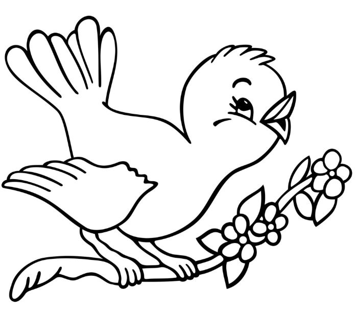 Bird clipart black and white 1 » Clipart Station.