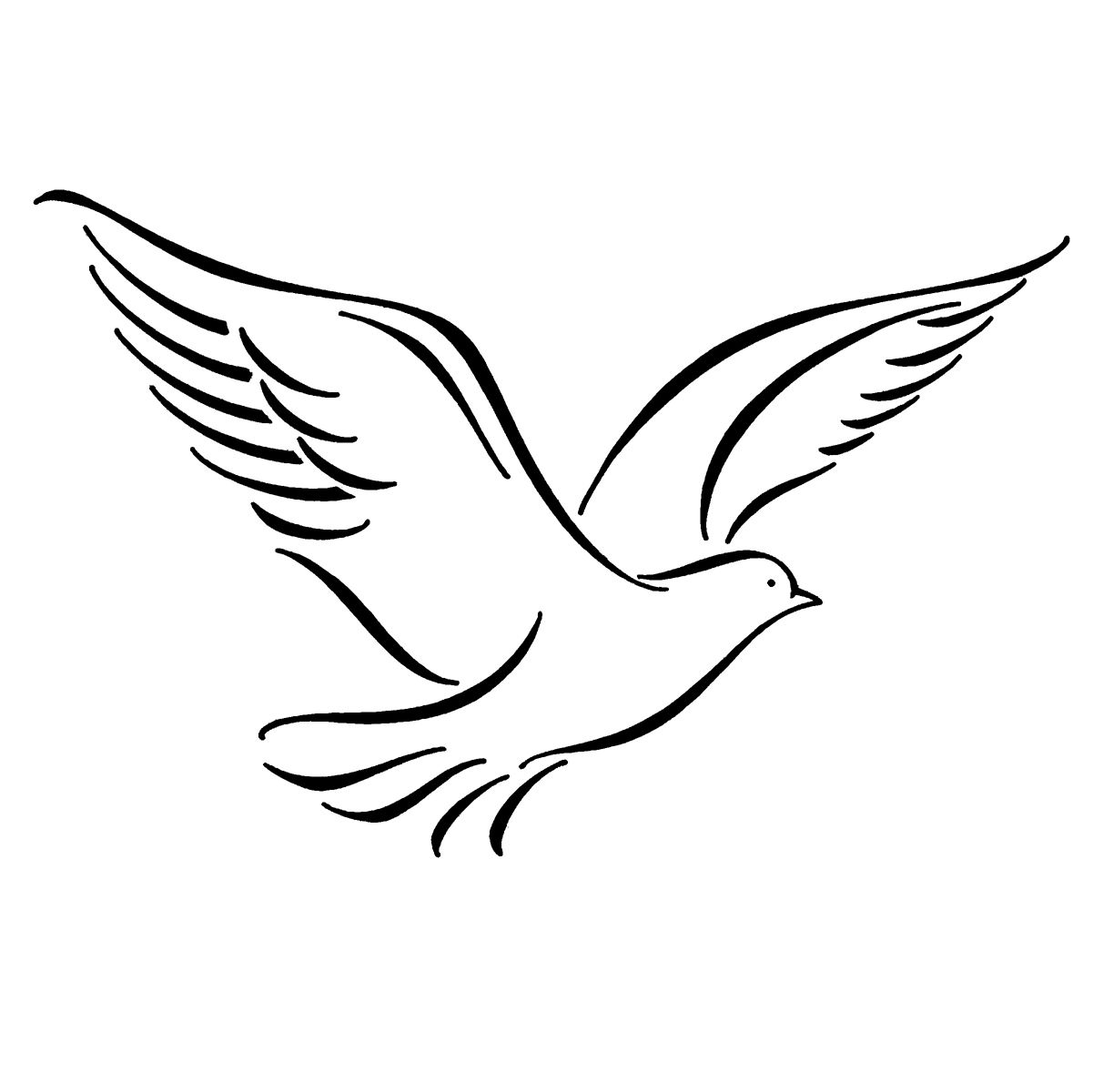 Drawing Of Birds Flying.