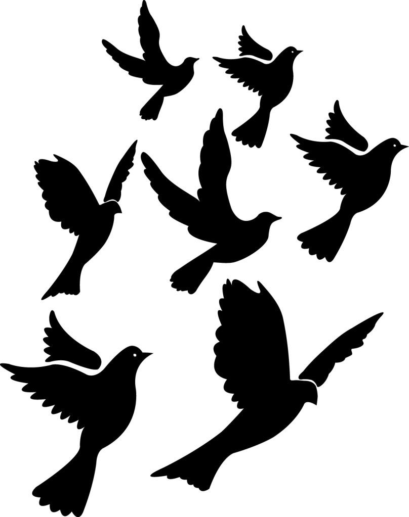 flying bird art.
