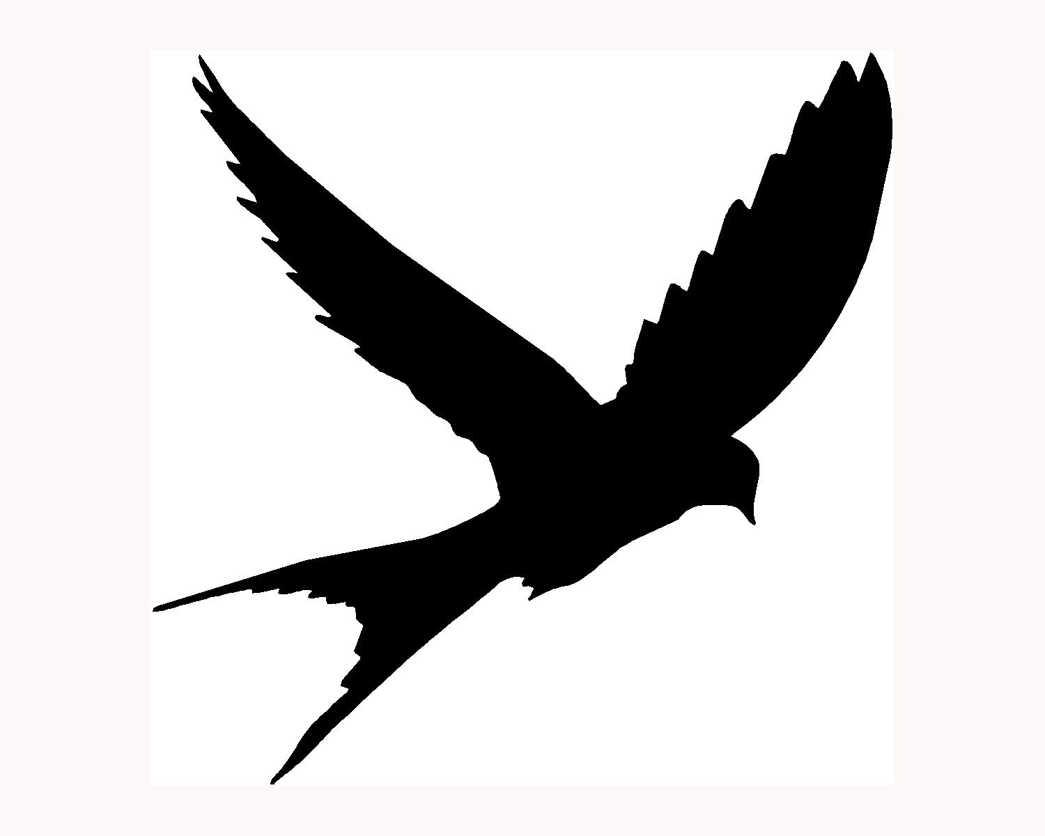 Flying Bird Silhouette Clipart.