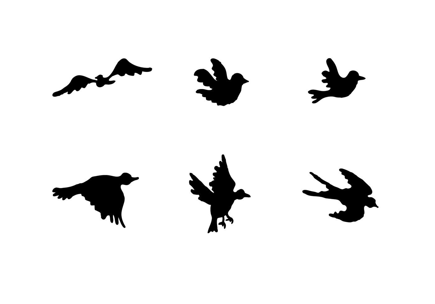 Black Bird Fly Free Vector Art.