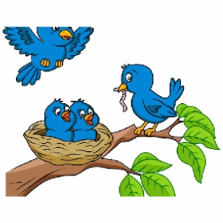 HD Nest Clipart Blue Bird Transparent PNG Image Download.