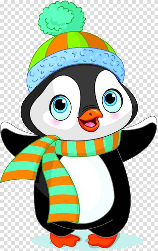 Penguin wearing winter suit art, Penguin , Cute penguins.