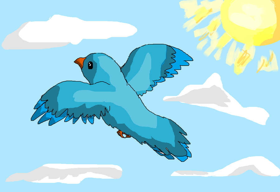 Blue Bird Flying by wolfpack809 on Clipart library.