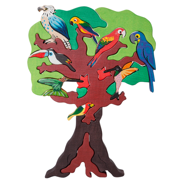 South American Bird Tree Puzzle.