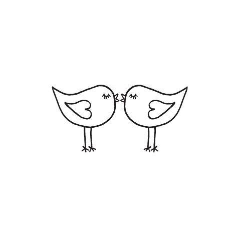 Love birds kissing clipart.