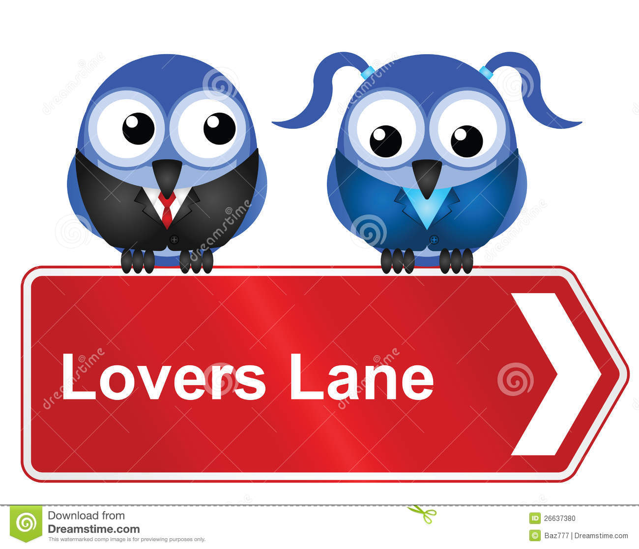 Lovers Lane Stock Photo.