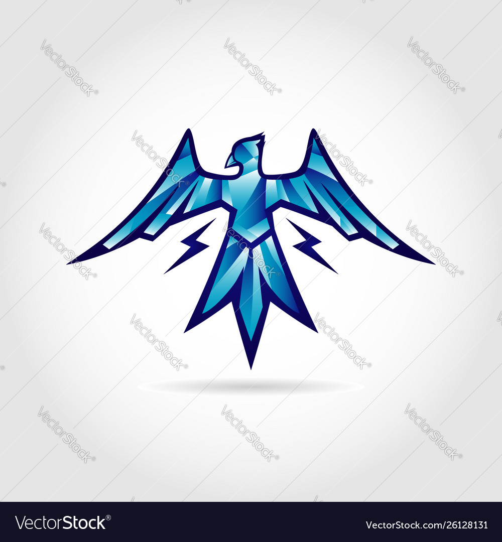 Thunder bird logo design symbol.