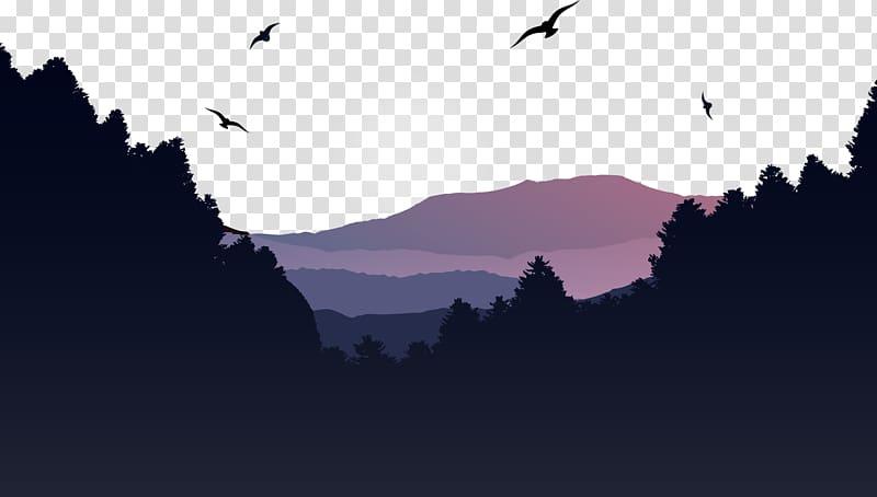 Mountain Euclidean Landscape, Asaka mountain forest.