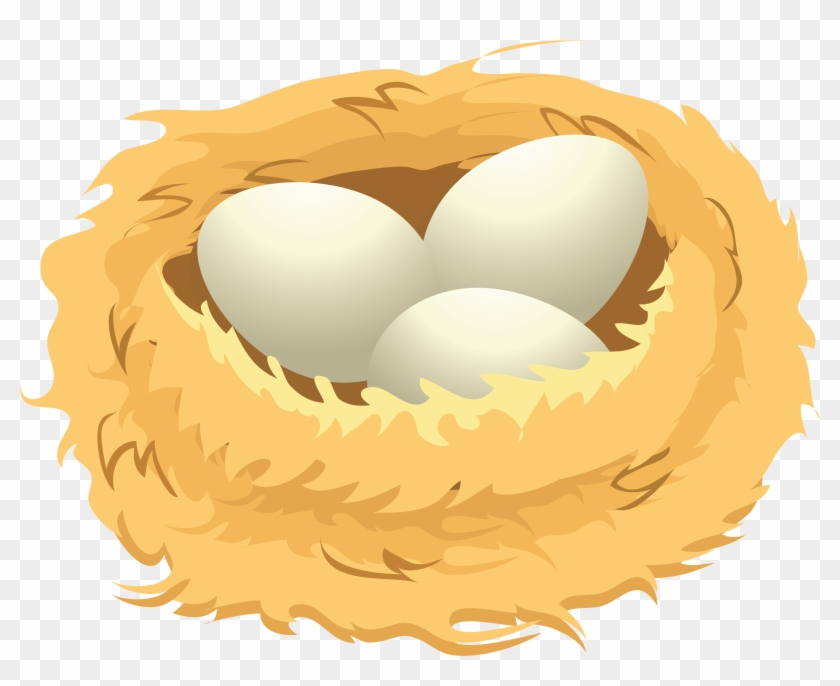 Eggs In A Nest Clip Art , Png Download.