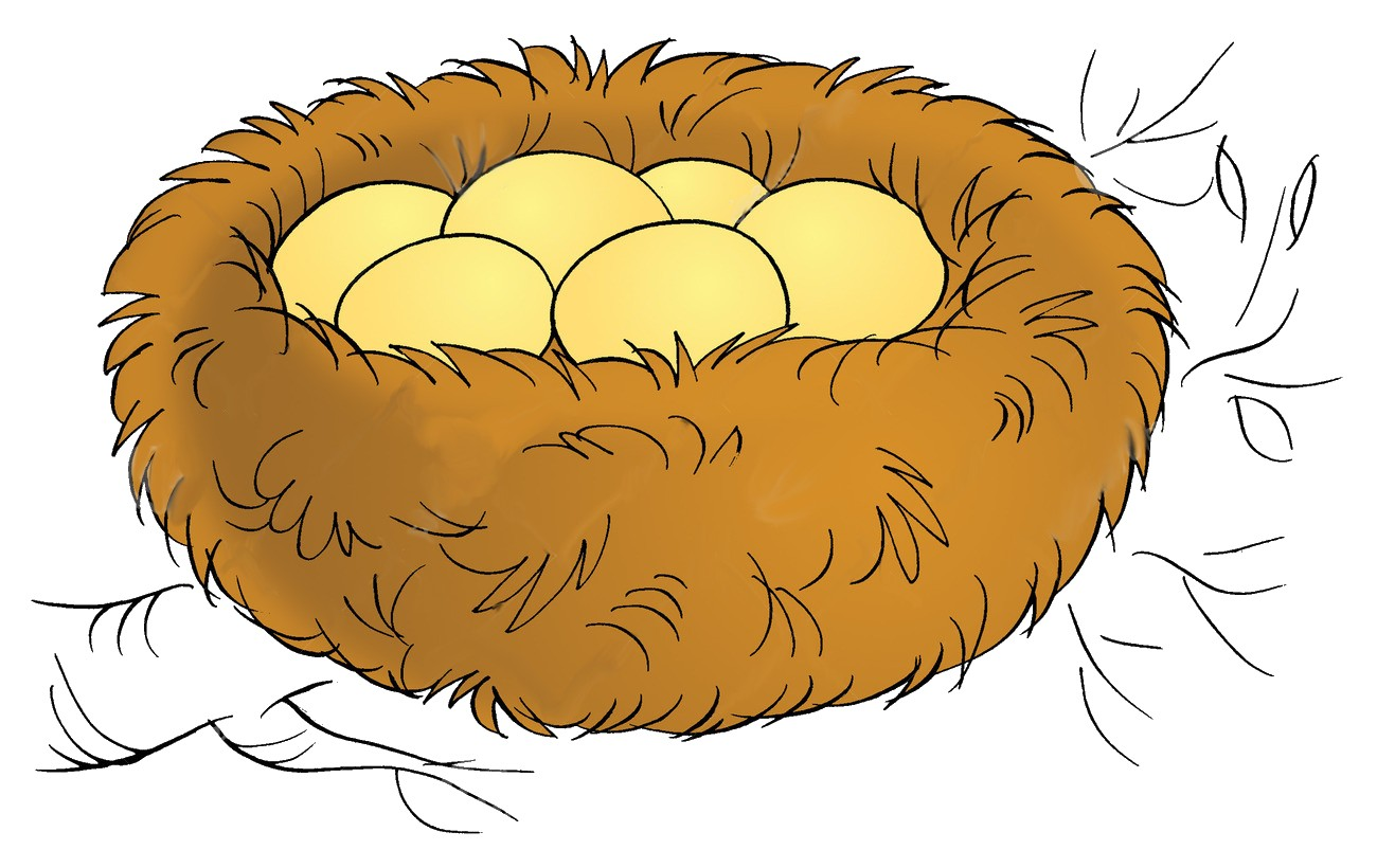 On Bird Nest Clipart Free Kisspng Clip Art 5ac10be3cdcc27.