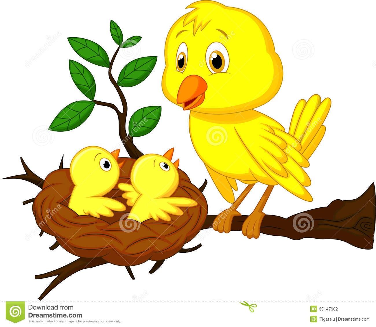 In Bird Nest Clipart Cartoon 1.