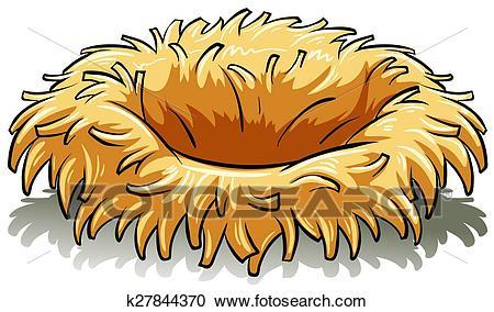 A bird's nest Clipart.