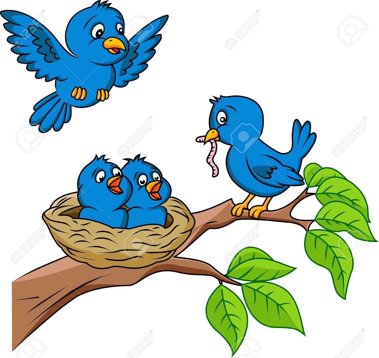 Bird Nest Cartoon.