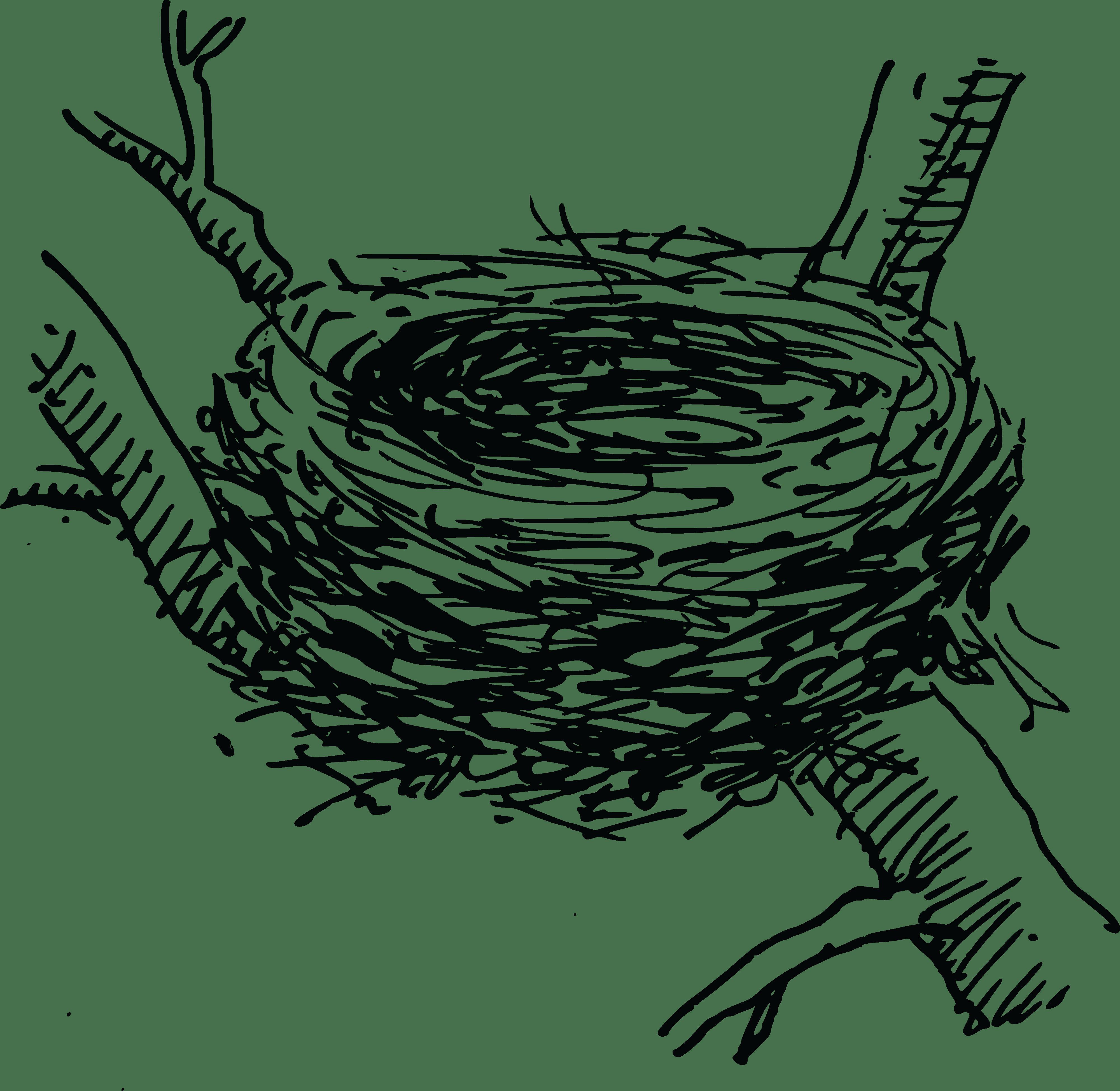 Birds nest clipart black and white 3 » Clipart Portal.