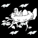Bird Nest Clipart Black And White.
