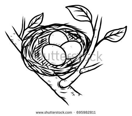 Bird nest clipart black and white 7 » Clipart Station.