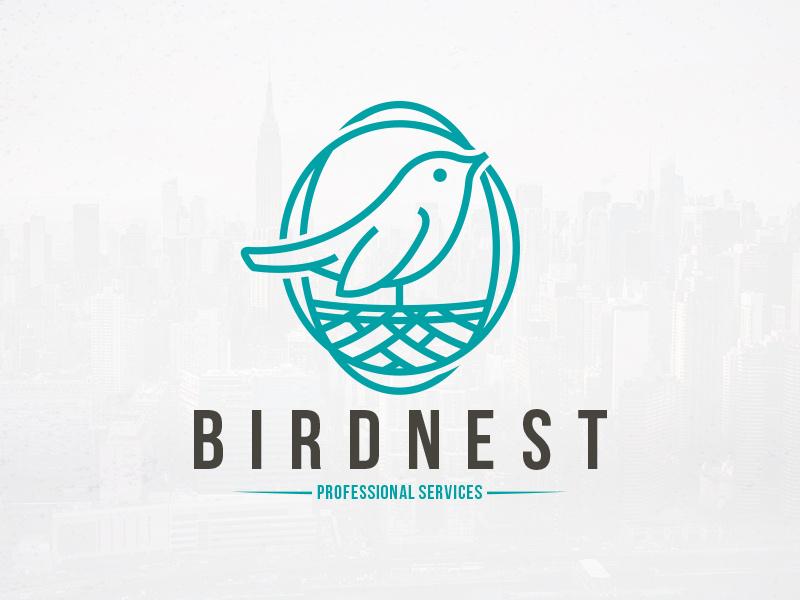 Bird Nest Logo Template by Alberto Bernabe on Dribbble.