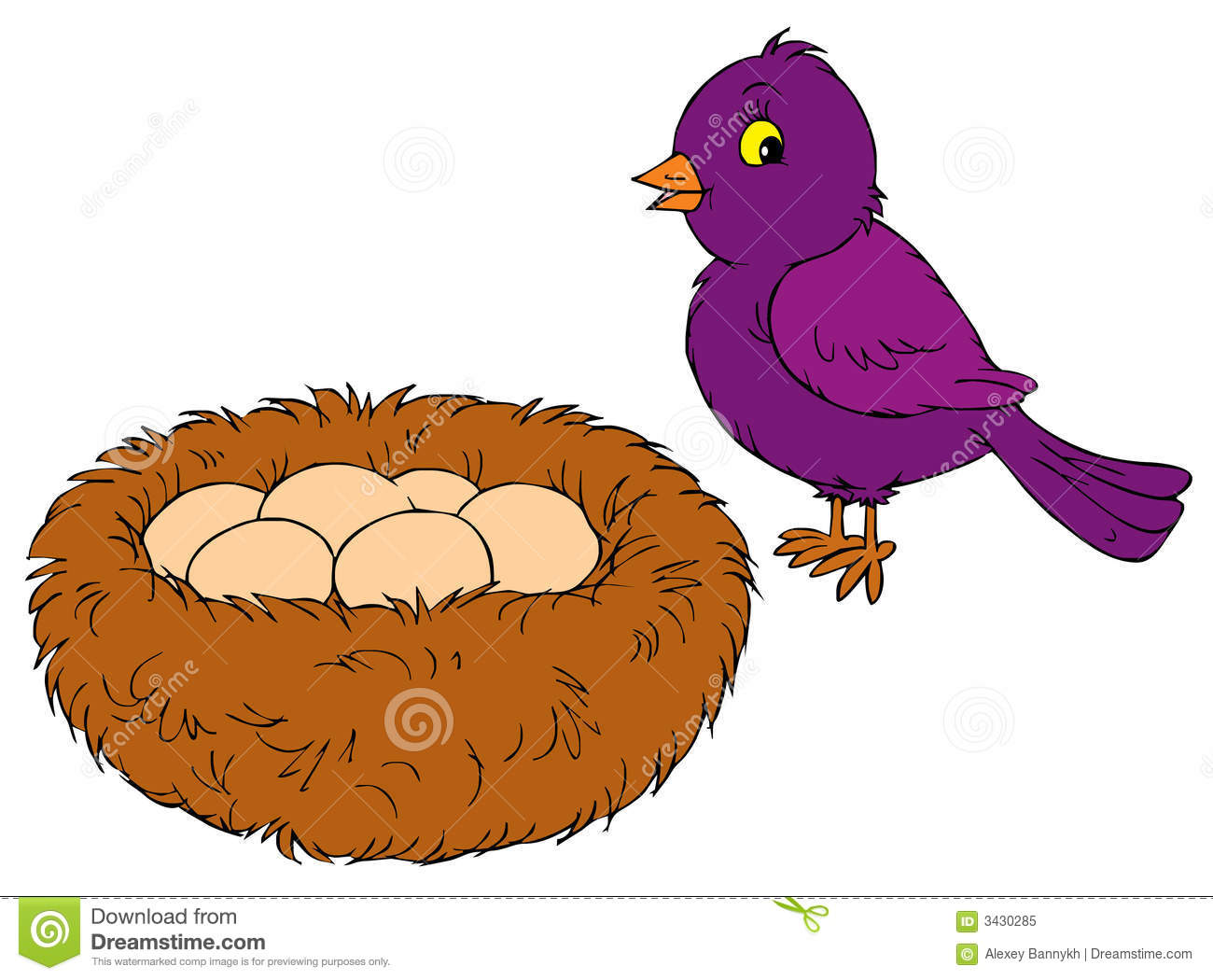 Bird Nest With Eggs Clipart.
