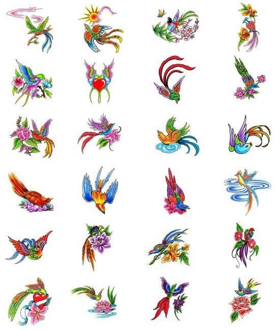 Bird of Paradise tattoos.
