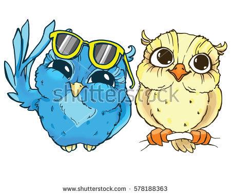 Owl Cartoon Stock Images, Royalty.