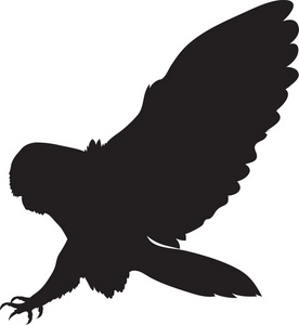 Owl Silhouette Clipart.