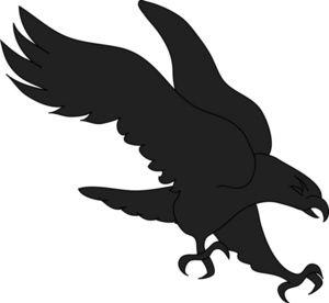Printable Hawk Silhouette.