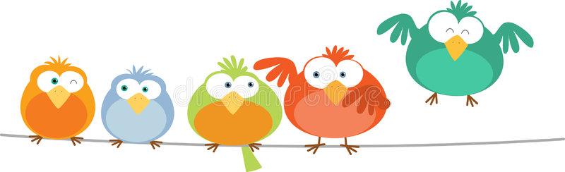 Bird Wire Stock Illustrations.