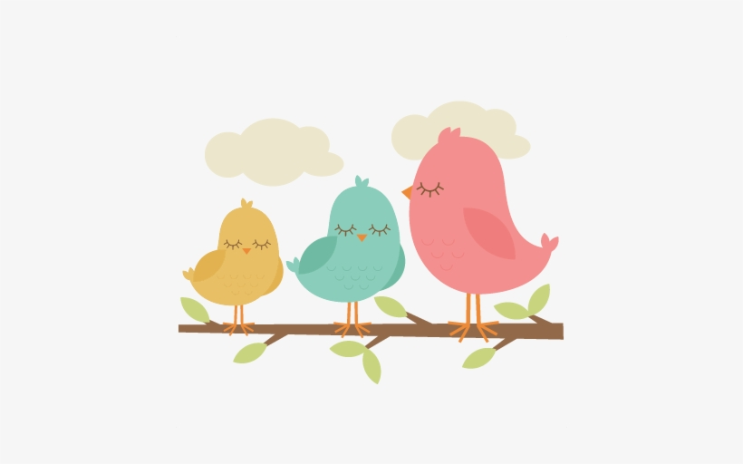Birds On A Branch Clip Art Transparent PNG.