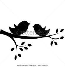 birds on a branch silhouette clip art free.