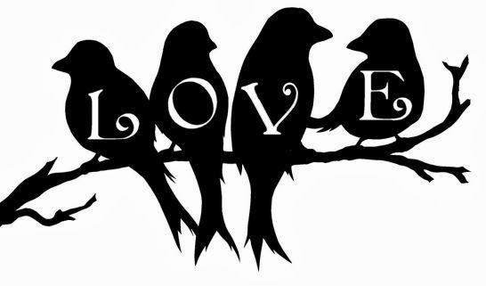 The Free SVG Blog: Love Birds on a branch Free SVG download for.