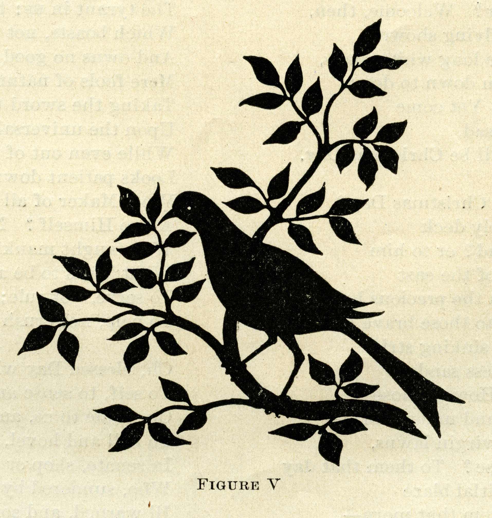 Bird on Branch Silhouette ~ Free Graphic.