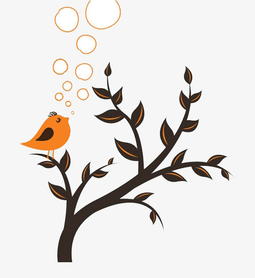 Download Free png Bird Stands On A Tree, Tree Clipart, Bird Clipart.