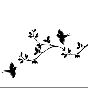 Birds In A Tree Clipart.