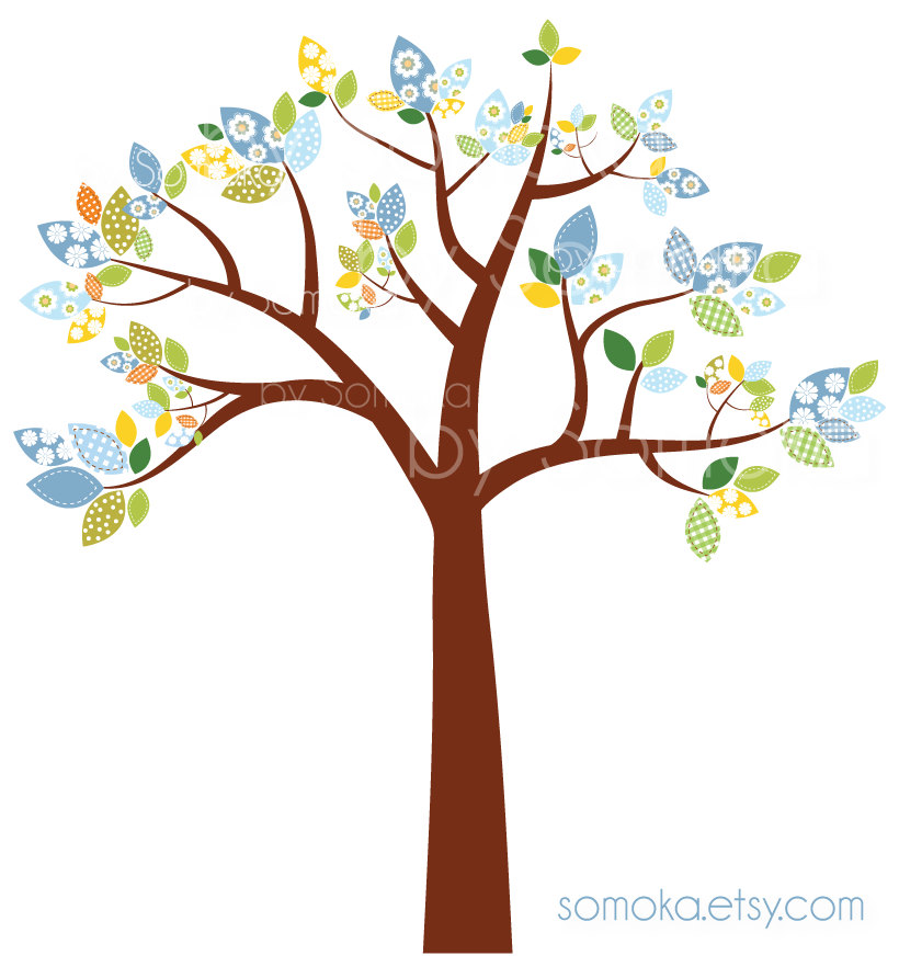 Tree With Birds Clipart.