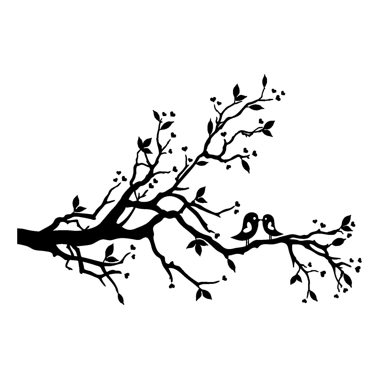 Lovebird Tree Branch Clip art.
