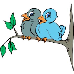 Bird On Tree Clipart.
