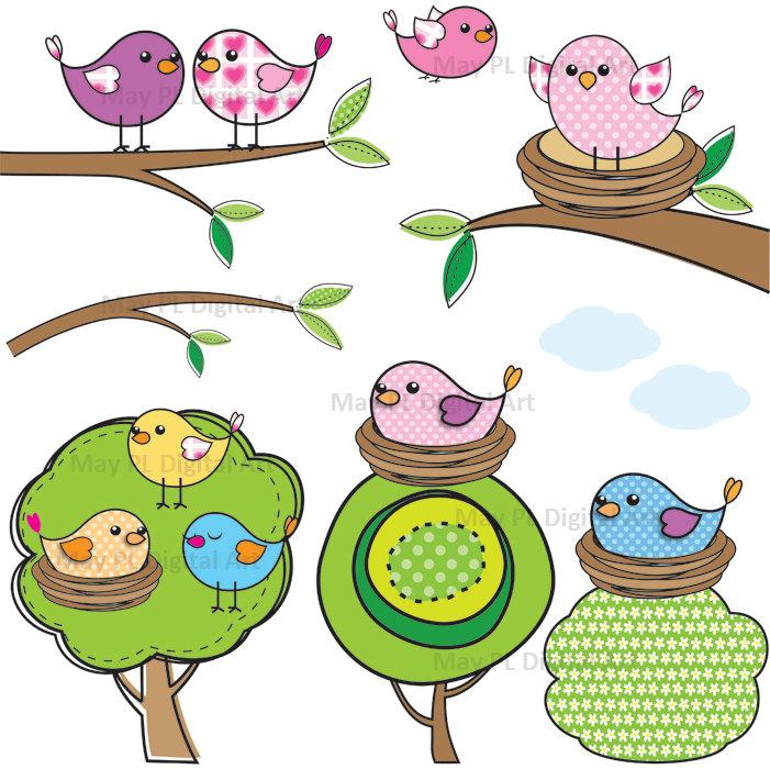 Bird Nest In Tree Clipart.